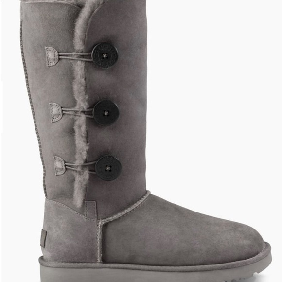 db58539b1f8 Grey tall Bailey button uggs
